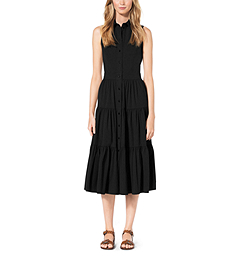 Cotton-Poplin Shirtdress by Michael Kors