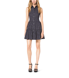 Sleeveless Cotton-Poplin Shirtdress by Michael Kors