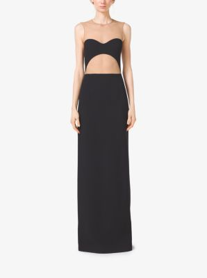 Bustier Illusion Double Crepe-Sable Gown by Michael Kors