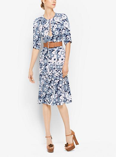 Floral Silk-Georgette Bias Dress by Michael Kors