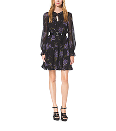 Floral-Print Silk-Georgette Dress by Michael Kors