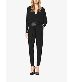 Stretch-Jersey Jumpsuit with Slide Belt