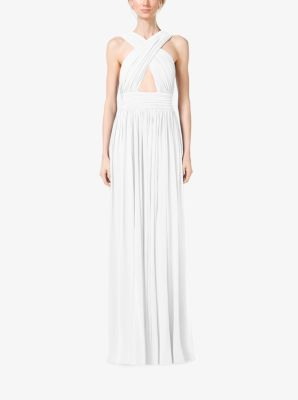 Cross-Front Cutout Tissue Matte-Jersey Gown by Michael Kors