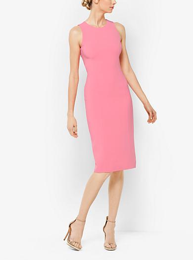 Stretch Wool-Crepe Sheath Dress  by Michael Kors