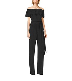 Ruffled Silk-Georgette Jumpsuit by Michael Kors