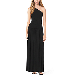 One-Shoulder Jersey Maxi Dress by Michael Kors