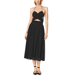 Matte-Jersey Cutout Maillot Dress by Michael Kors