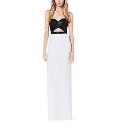 Sequined Cutout Crepe-Sable Gown by Michael Kors