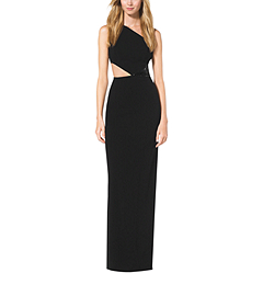Paillette-Embroidered One-Shoulder Cutout Gown by Michael Kors