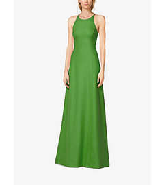 Silk-Crepe Halter Gown by Michael Kors