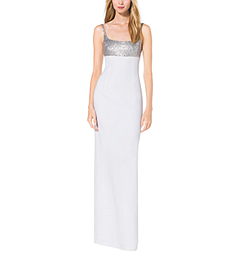 Sequined Crepe-Sable Tank Gown by Michael Kors