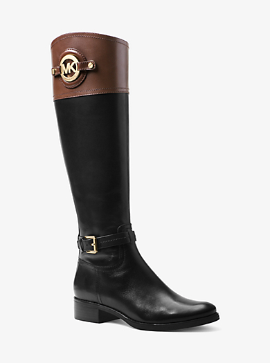 Stockard Leather Boot by Michael Kors