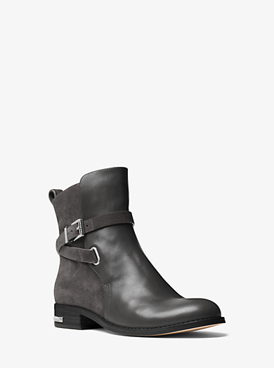 Arley Leather and Suede Ankle Boot by Michael Kors