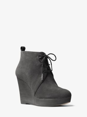 Pierce Lace-Up Suede Wedge by Michael Kors