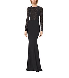 Stretch Crepe-Cady Fishtail Gown by Michael Kors