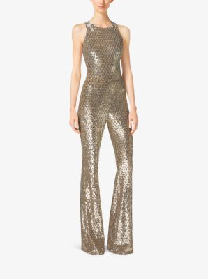 Metallic Sequined Tulle Jumpsuit by Michael Kors