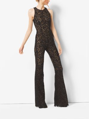 Floral Lace Flared Jumpsuit  by Michael Kors