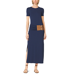 Matte-Jersey T-Shirt Dress by Michael Kors
