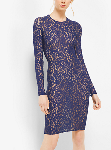 Abito stretch in pizzo floreale by Michael Kors