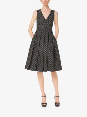 Paisley Cotton-Poplin Pleat Dress by Michael Kors