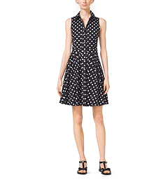 Polka-Dot Stretch Cotton-Poplin Shirtdress by Michael Kors