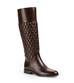 Quilted Leather Knee Boot