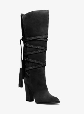 Jessa Lace-Up Suede Boot by Michael Kors