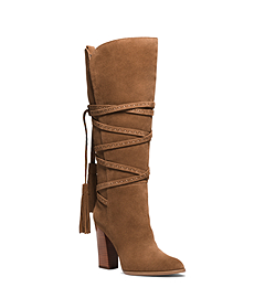 Jessa Lace-Up Suede Boot