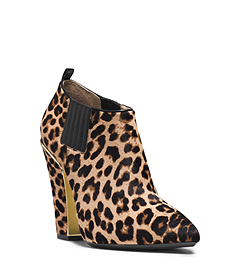 Lacy Leopard Hair Calf Ankle Boot