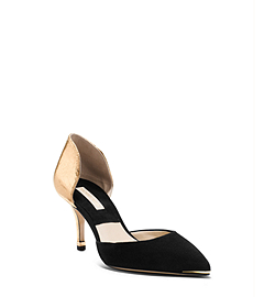 Scarlett Metallic Leather and Suede Pump