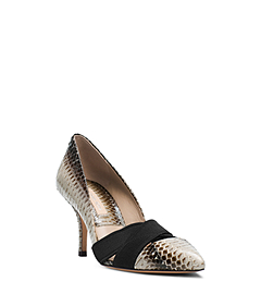 Stephanie Snakeskin Slip On Pump