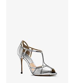 Caryn Metallic Leather Sandal by Michael Kors