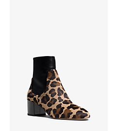 Erin Leopard Calf Hair and Leather Ankle Boot by Michael Kors