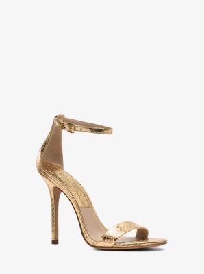 Jacqueline Snakeskin and Leather Sandal by Michael Kors