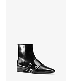 Laura Monk-Strap Leather Ankle Boot by Michael Kors