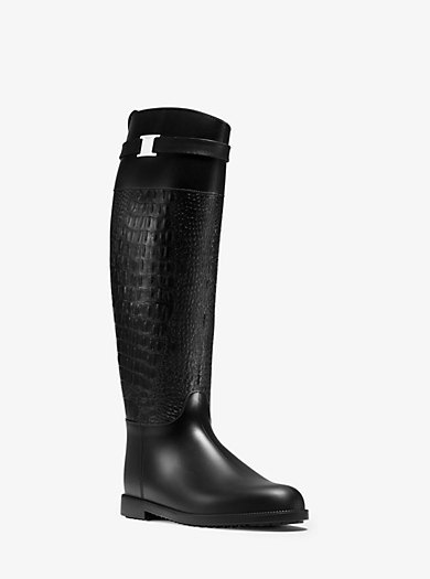 Miranda Embossed-Rubber Boot by Michael Kors