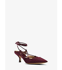 Suede Lace-Up Pump by Michael Kors