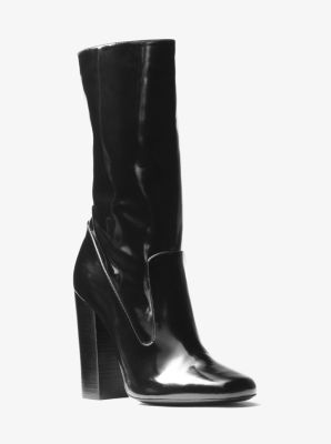 Agatha Leather Mid-Calf Boot by Michael Kors