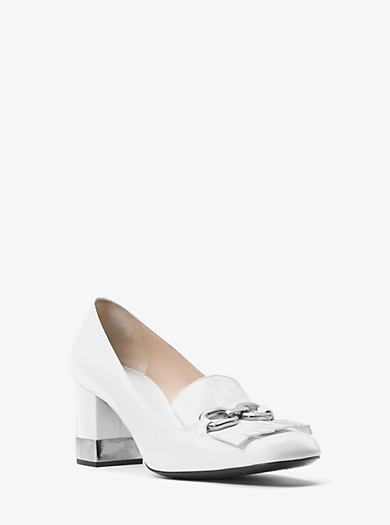 Carrie Spazzolato Leather Pump by Michael Kors