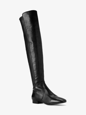 마이클 코어스 마이클 코어스 Michael Kors Coraline Leather Over-The-Knee Boot,BLACK