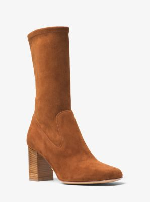 Eloise Suede Mid-Calf Boot by Michael Kors