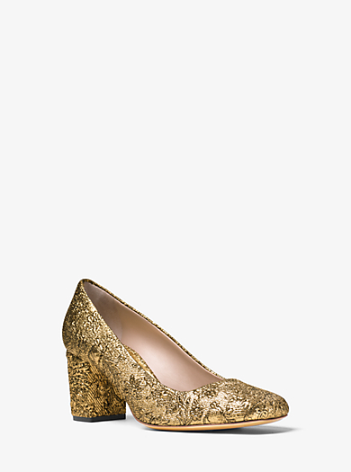 Gigi Metallic Brocade Pump by Michael Kors