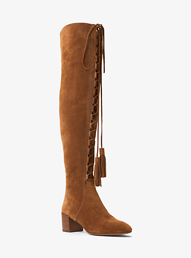 Harris Suede Lace-Up Boot by Michael Kors