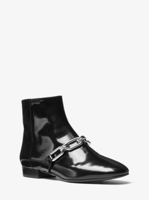 Lennox Patent Leather Ankle Boot by Michael Kors