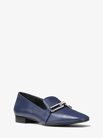 Lennox Calf Leather Loafer  by Michael Kors