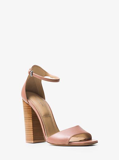 Rosa Leather Sandal by Michael Kors