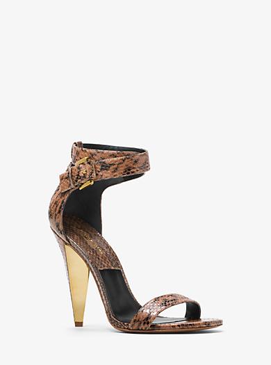Niki Snakeskin Sandal by Michael Kors