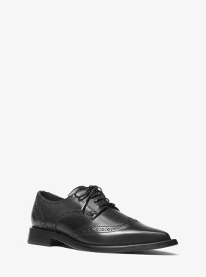 마이클 코어스 옥스포드화 Michael Kors Mullens Calf Leather Oxford,BLACK