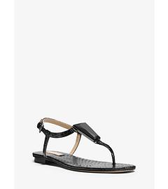 Hanne Embellished Snakeskin Sandal