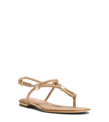 Hartley Matte-Snakeskin Sandal by Michael Kors
